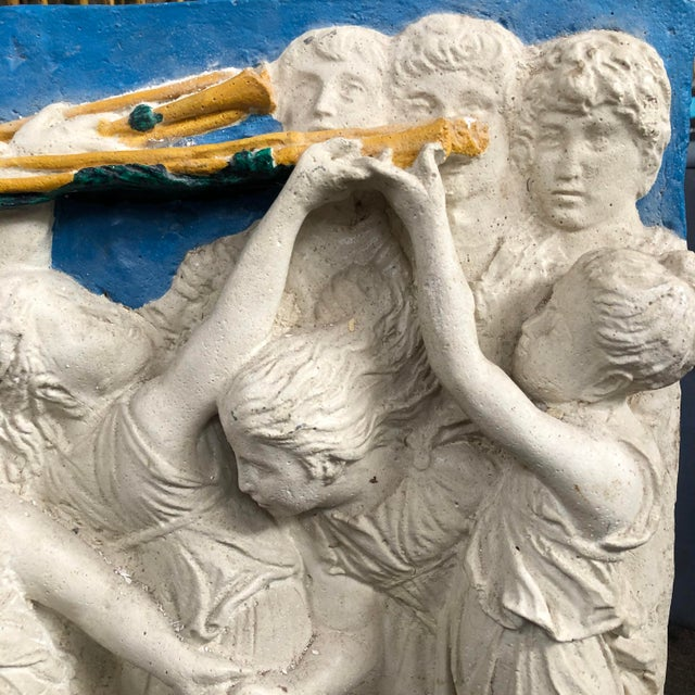 Tuscan Early 20th Century Painted Frieze with Cherubs For Sale - Image 3 of 5