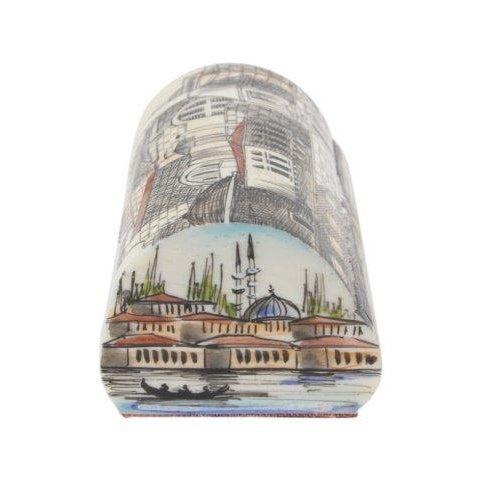 Turkish Hand-Painted Bone Box - Image 3 of 4