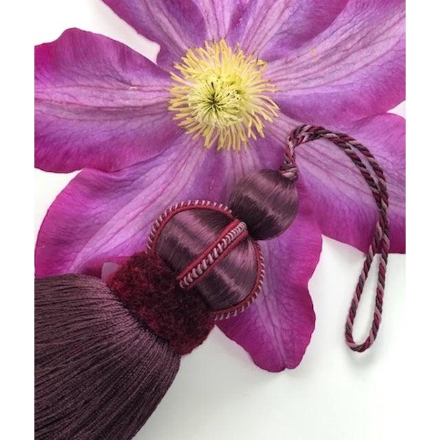 Mulberry Key Tassel W Cut Velvet Ruche For Sale - Image 10 of 11