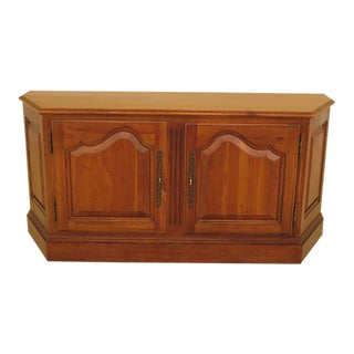 Ethan Allen 2 Door Cherry Media Cabinet Console For Sale