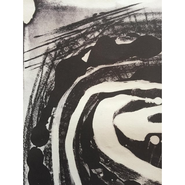 Abstract Mid Century Modern Abstract Stone Litho Jerry Opper For Sale - Image 3 of 7