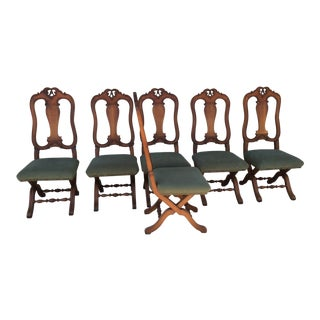 Italian Opera-Style Dining Chairs - Set of 6 For Sale