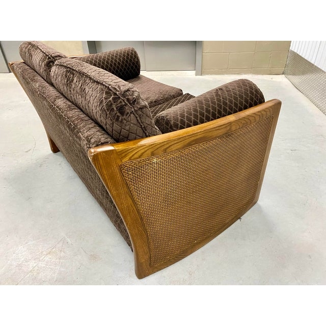 Mid Century Modern Reupholstered Loveseat For Sale In Tampa - Image 6 of 10