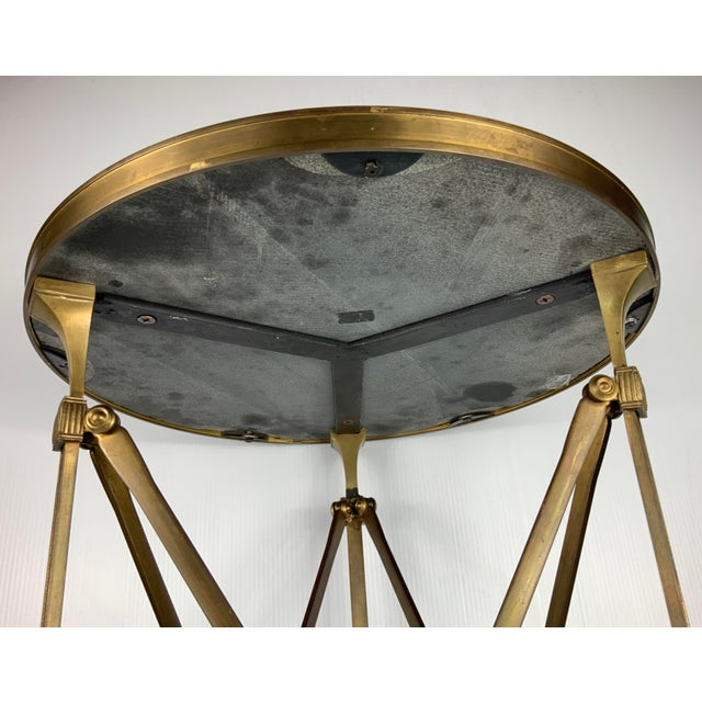 1970s Vintage French Maison Jansen Empire Bronze Side Table For Sale - Image 5 of 7