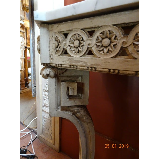 19th Century French Console With Marble Top For Sale - Image 9 of 12