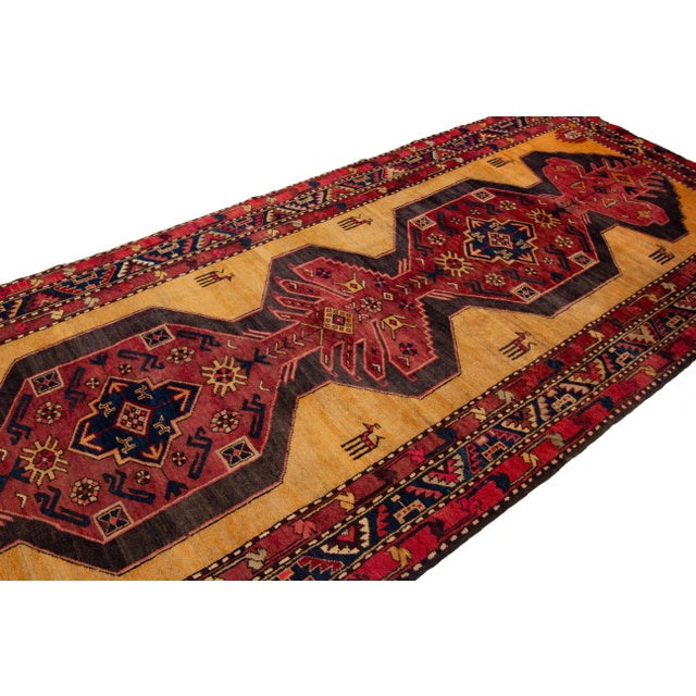 """Apadana - Vintage North West Persian Rug, 4'4"""" X 10'8"""" For Sale In New York - Image 6 of 9"""