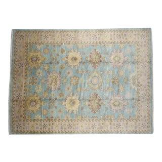 "Traditional Handmade Wool Oushak Rug - 8'4"" x 9'11"""