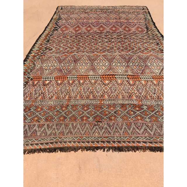 Mid 20th Century Vintage Moroccan Nomadic African Tribal Rug For Sale - Image 5 of 9
