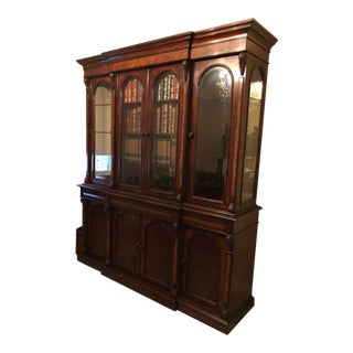 Ralph Lauren Mahogany Bookcase For Sale