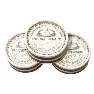 French Antique Black and White Boxes & Wicks - Set of 3 For Sale