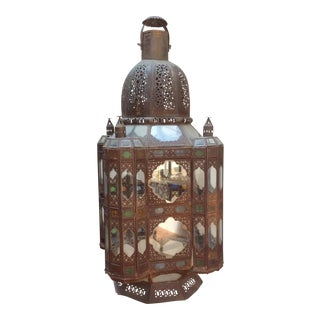 Massive Moroccan Tole Lantern For Sale