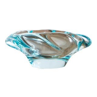 Ethereal Blue Crystal Bowl by Daum, France, 1950s For Sale