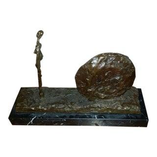 Giacometti Bronze Mid-Century Sculpture