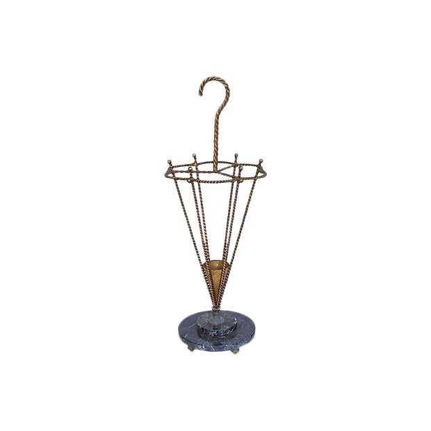 1950s Italian Gilt Umbrella Stand For Sale