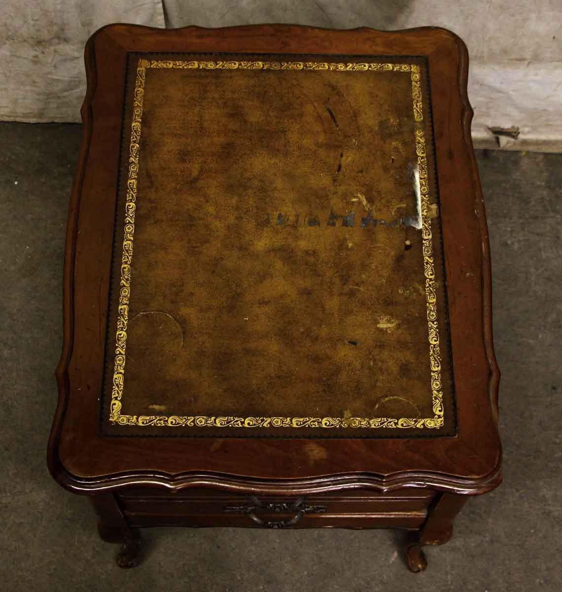 Leather Top French Side Table   Image 3 Of 9