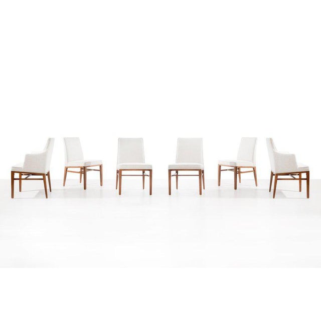 Edward Wormley Set of Six Dining Chairs For Sale In New York - Image 6 of 13