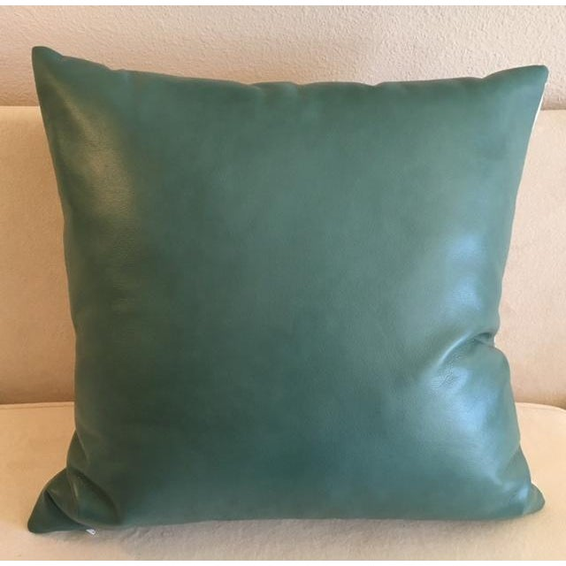 Custom Turquoise Moroccan Trellis Pillows - Pair - Image 5 of 5