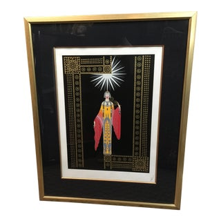 Erte Serigraph La Princess Lointaine Signed For Sale