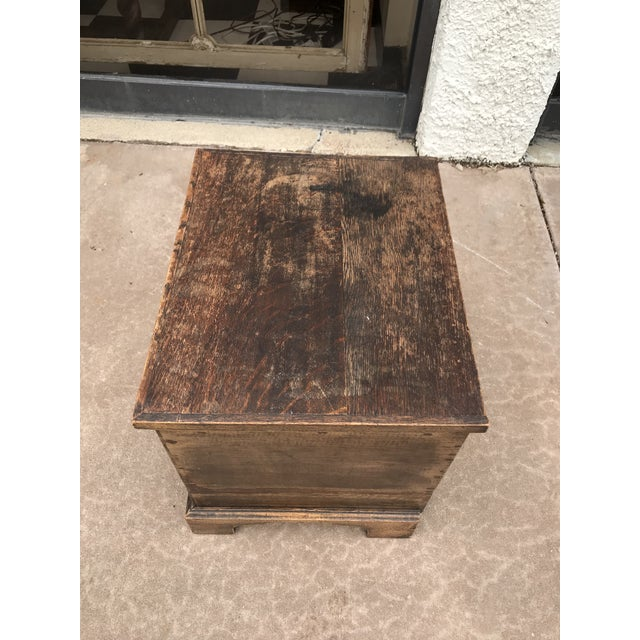 Mid 19th Century 19th Century George III Oak Trunk For Sale - Image 5 of 8