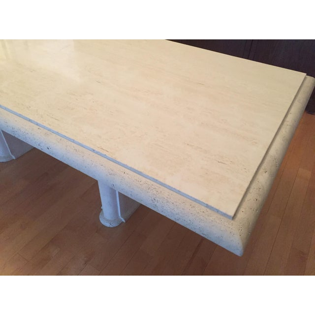 Solid Travertine Dining Table - Perfect and Incredible - Image 9 of 11