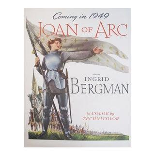 1948 American Movie Advertisement, Joan of Arc