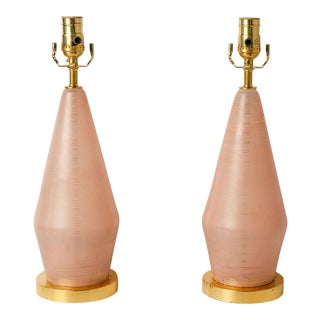 Pair of Mid-Century Murano Lamps For Sale