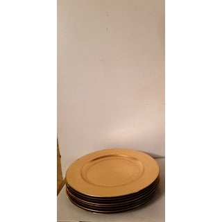 Vintage Gold Plates/ Chargers - Set of 8 Preview