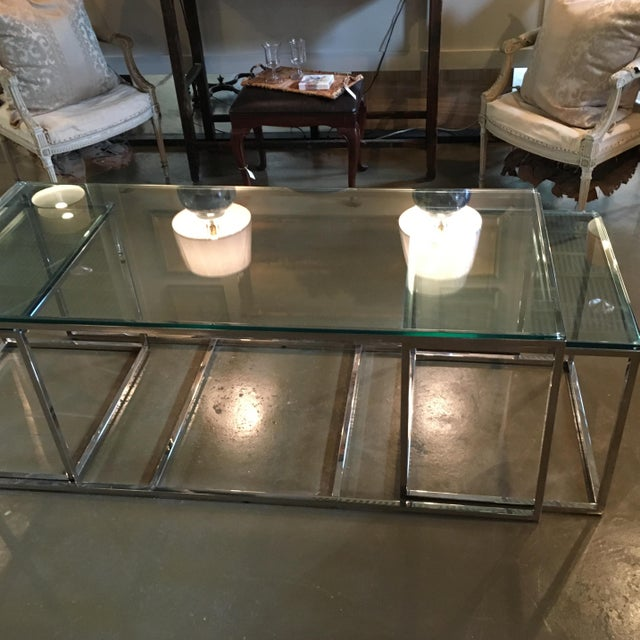 Modern Mid-Century Modern Coffee Table & Side Tables - Set of 3 For Sale - Image 3 of 7