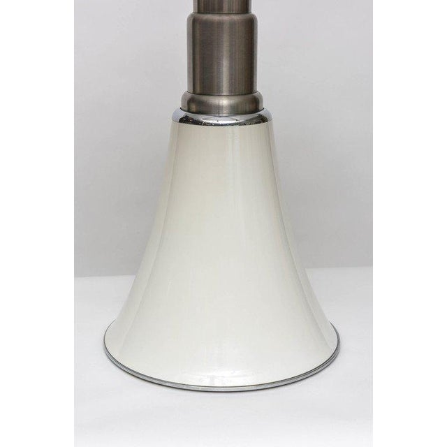 """Near -pristine vintage """"Pipistrello"""" lamp, designed by Gae Aulenti in 1965 for Martinelli Luce. The telescopic stainless..."""