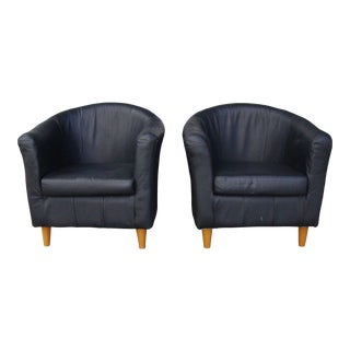 1990s Italian Club Chairs - A Pair For Sale