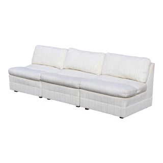Sectional in Cream Boucle by Heritage, 3 Pcs For Sale