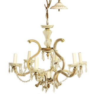 Marie Therese Crystal Chandelier With Six Glass Arms For Sale