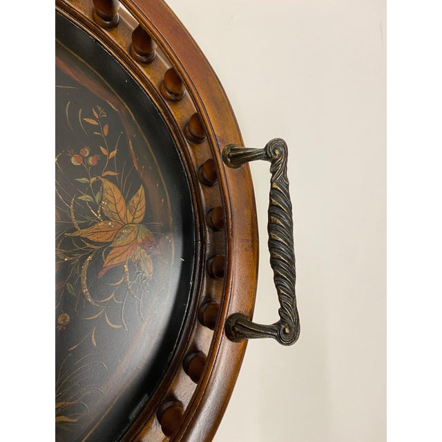 Mahogany Oval Gallery Tray For Sale - Image 9 of 12