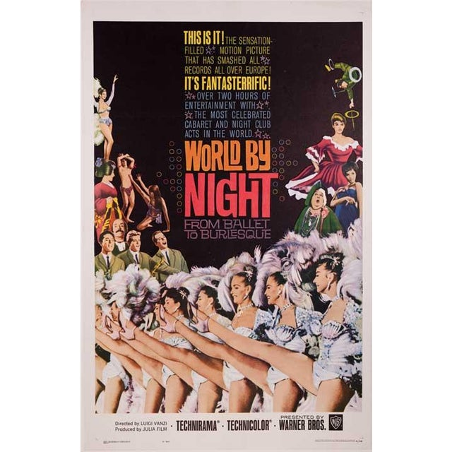World by Night Linen-Mounted 1961 Movie Poster - Image 1 of 2