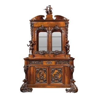 European 19th Century Dutch Bureau Bookcase