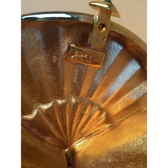 Judith Leiber Swarovski Crystal Fan Minaudiere Evening Bag Clutch Wristlet For Sale In Philadelphia - Image 6 of 8