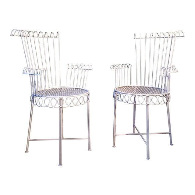 Iron Armchairs by Mathieu Mategot Model Cap d'Ail - A Pair - Image 1 of 11