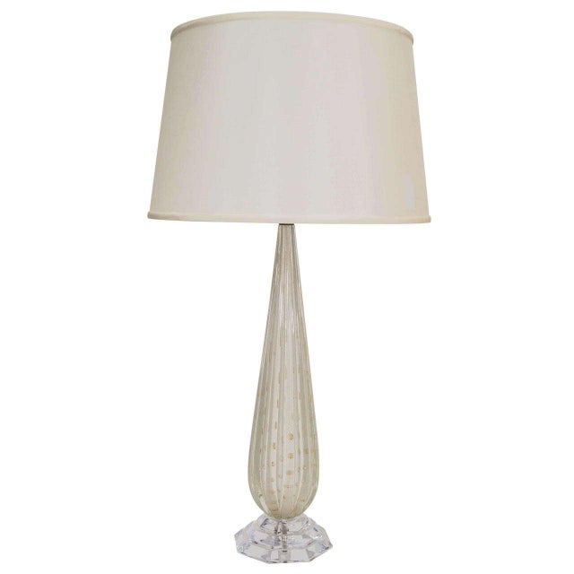 Glass White Murano Glass Lamp For Sale - Image 7 of 7