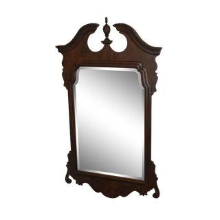 Henredon Salem Collection Dark Cherry Chippendale Mirror For Sale