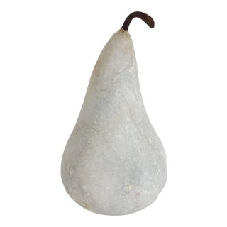 Medium Natural Marble Pear For Sale
