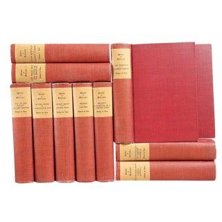 Vintage Red Balzac Books, S/11