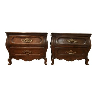 Baker Bombe Bombay Chests Nightstands Side Tables - a Pair Cabriole Legs For Sale