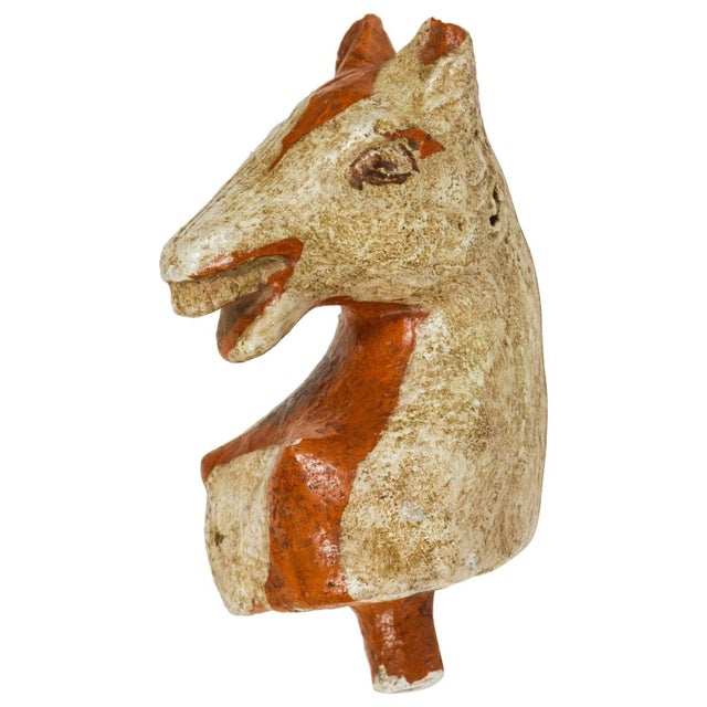 Glazed Horse Head Object For Sale