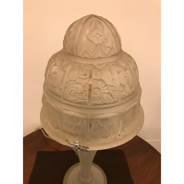 French Art Deco Table Lamp by Gênet et Michon - Image 5 of 10