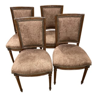 Late 18th Century Louis XVI Fruitwood Side Chairs - Set of 4 For Sale
