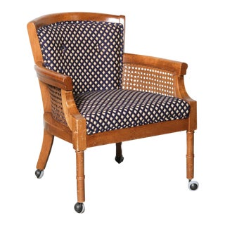 Vintage Mid-Century Modern Style Caned Armchair