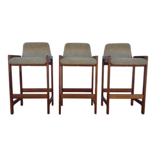 Danish Teak Bar Stools - Set of 3