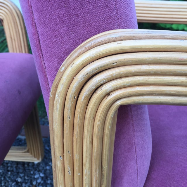 Gabriella Crespi Style Pencil Reeded Velvet Chairs - a Pair For Sale In Baltimore - Image 6 of 13