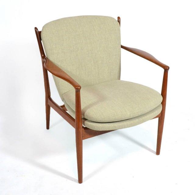 Brown Finn Juhl Delegates Chair For Sale - Image 8 of 11