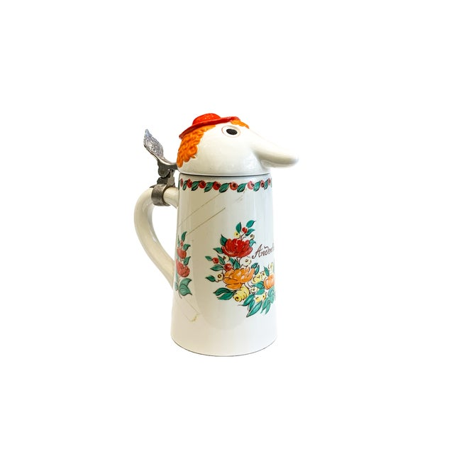 White Mid 20th Century Schultz & Dooley Beer Steins - Set of 3 For Sale - Image 8 of 10